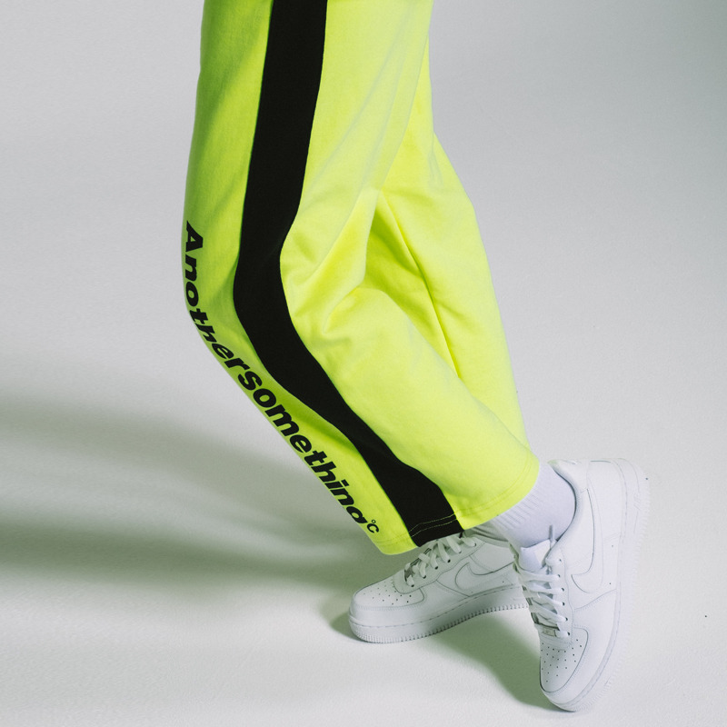 basic crop sweat pant fluorescent