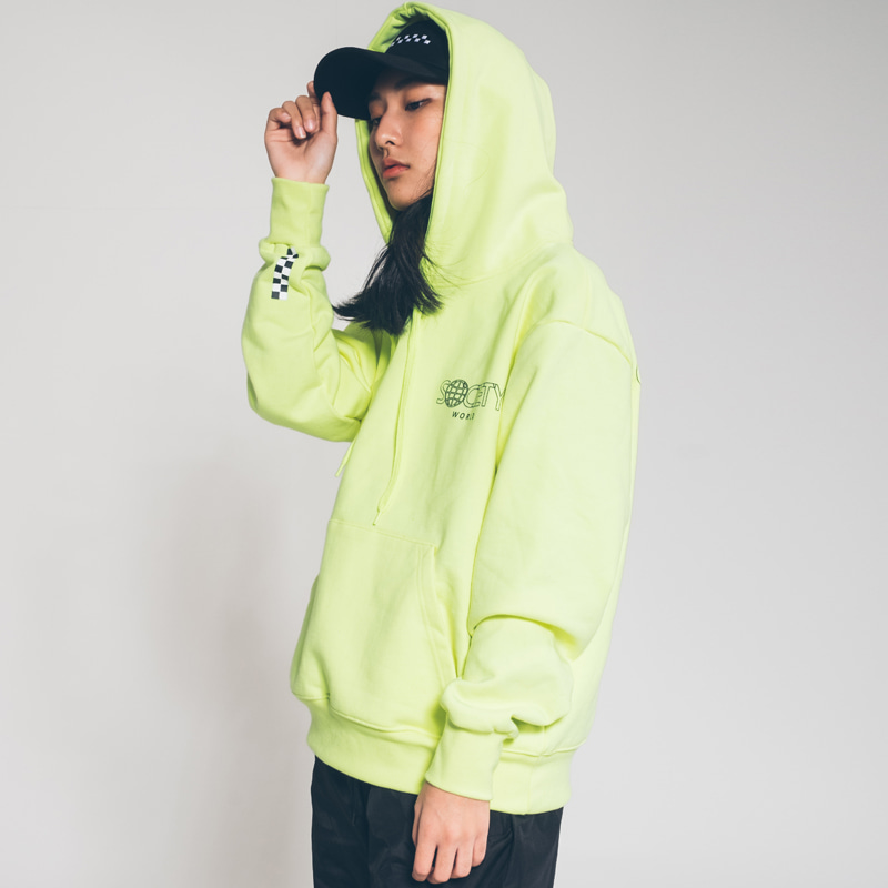society world hoody fluorescent