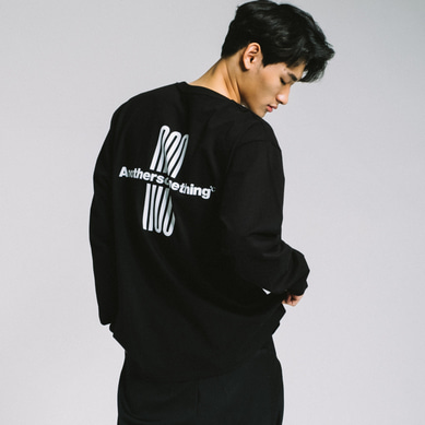 basic logo long sleeve tee Black