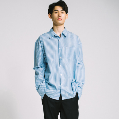 basic oversize stripe shirt