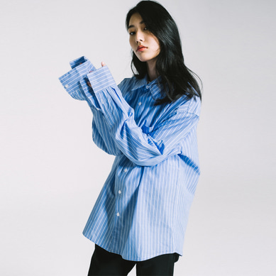 basic oversize shirt stripe