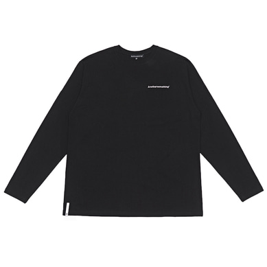 basic small logo long sleeve tee Black