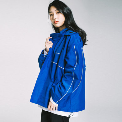 basic side line wind breaker Blue[원더나인 전도염 착용]